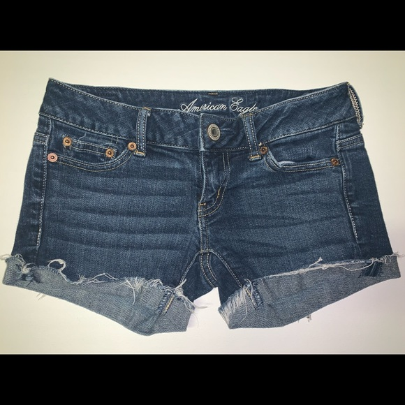 American Eagle Outfitters Pants - American Eagle Distressed Denim Shorts Size 00